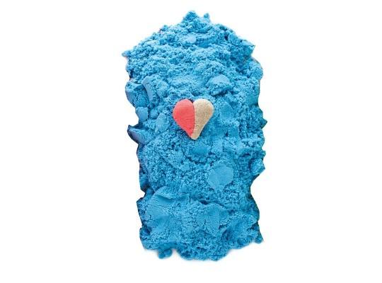 Písek kinetický barevný-modrý
