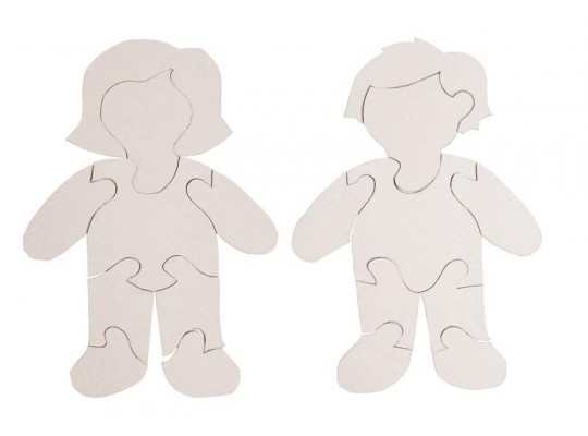 Puzzle z lepenky-holka/kluk