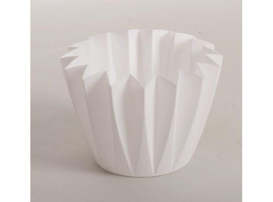 Plastové květníky bílé                                                                                                                                                                                                                              (10ks)