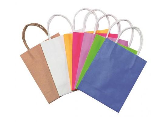 Taštičky papírové  barevné - malé                                                                                                                                                                                                                   (10ks)