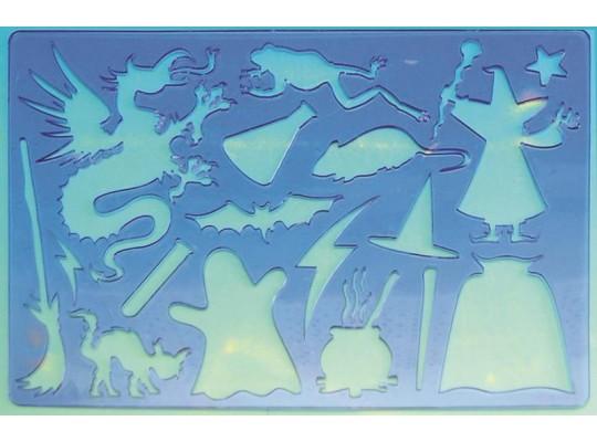 Šablona z průhledného plastu - Čarodějnice