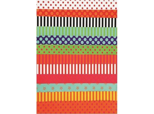 Papír na skládání-proužky dekorační