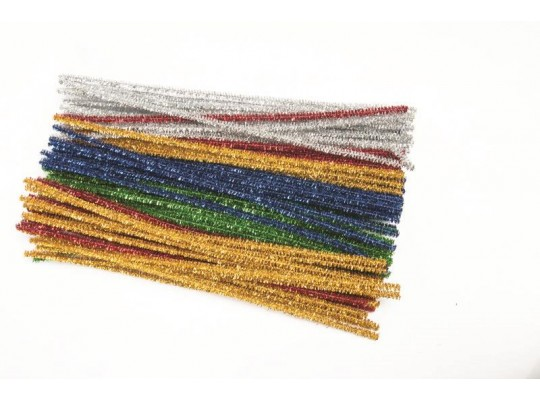 Chlupaté drátky třpytivé barevné                                                                                                                                                                                                                    (90ks)