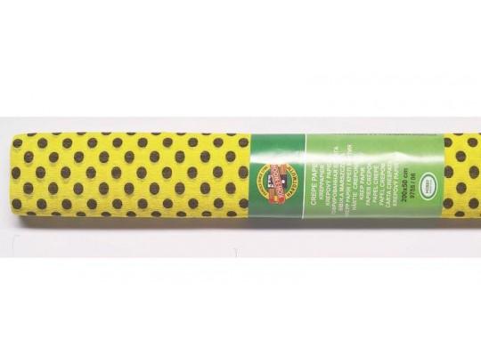 Krepový papír s puntíky - sada (2role)