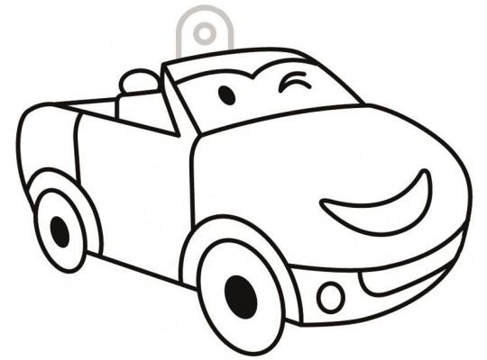 Sklíčko závěsné kontura auto