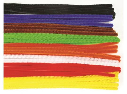 Chlupaté drátky barevné - sada velká                                                                                                                                                                                                               (100ks)