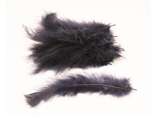 Peří dekorační - černošedé                                                                                                                                                                                                                          (30ks)