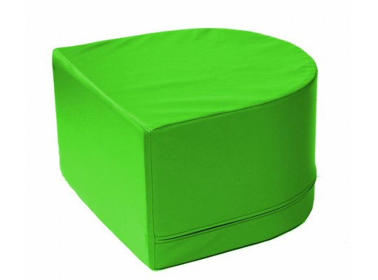 Stavebnice z PUR pěny housenka-koncová část-zelená