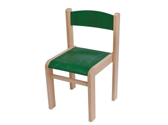 Židle dětská zelená-výška 26cm