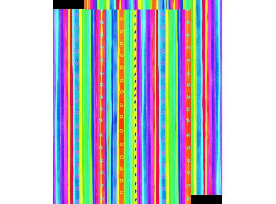 Fotokarton rozkvetlé proužky