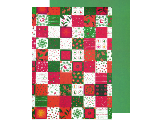 Fotokarton vánoční-motivy zelené