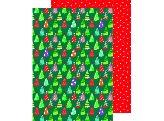 Fotokarton vánoční-stromy zelené