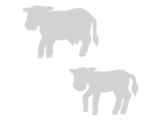 Kráva a telátko z lepenky