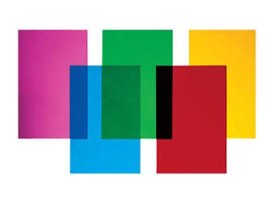 Okenní fólie barevná 22,5 x 32,5 cm (10 ks)