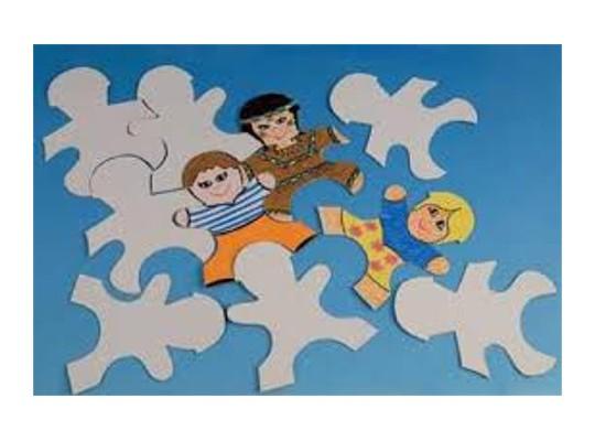 Puzzle z lepenky-děti