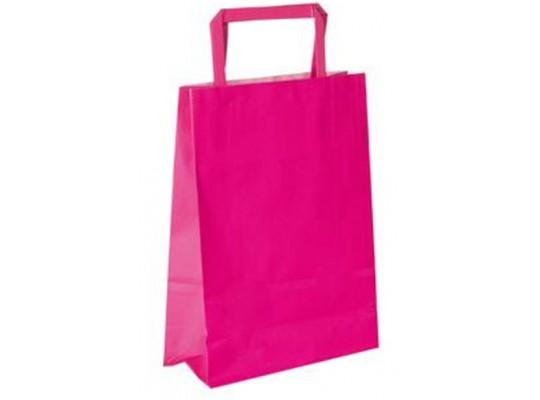 Taška papírová-růžová