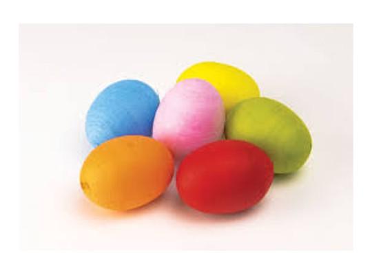 Vatová vajíčka žlutá (10 ks)