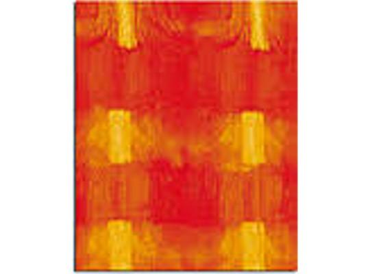 Transparentní papíry batikované červené A4 (10ks)