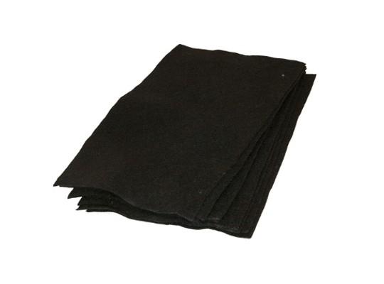 Filc černý 20 x 30 cm (10 ks)