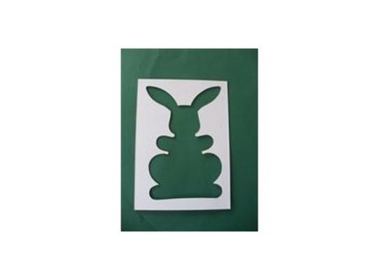 Šablona z lepenky- Zajíc malý (5ks)