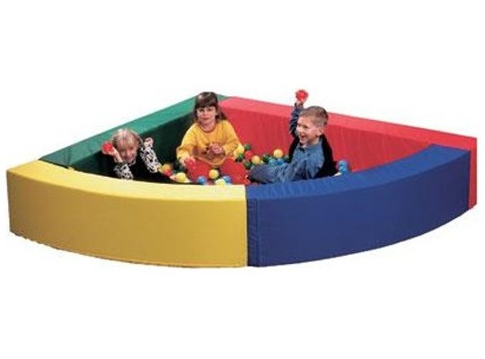 Bazén rohový - Koženka barevná