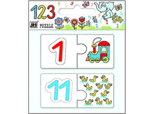 Puzzle obří číslice