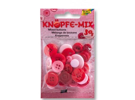 Knoflíky plastové-červené