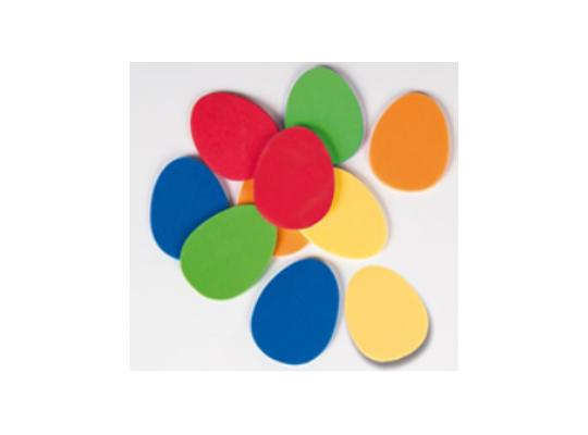 Mechová pryž - Vajíčka barevná (10 ks)