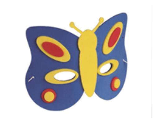 Mechová pryž - maska motýl (1 ks)