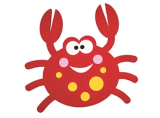 Mechová pryž - dekorace - krab