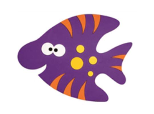 Mechová pryž - dekorace - ryba