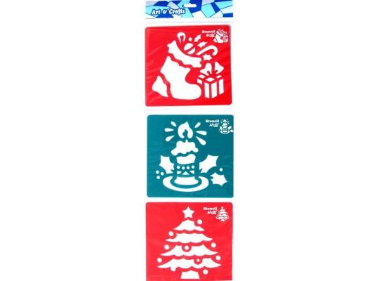 Šablony barevné - Vánoce                                                                                                                                                                                                                             (3ks)