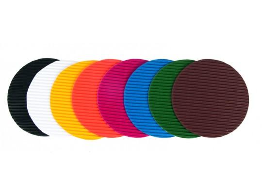Kolečko z lepenky vlnité barevné-malé průměr 8,9cm