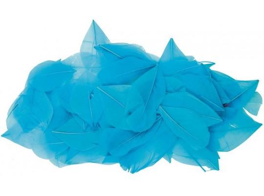 Peří - listy modré (70ks)