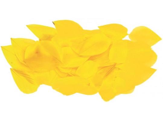 Peří - listy žluté (70ks)