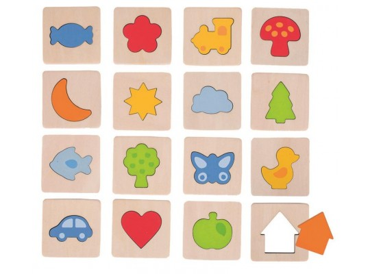Poznej tvar v rámečku-hra hmatová