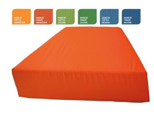 Sedací souprava lichoběžník bez opěradla-tmavě oranžová