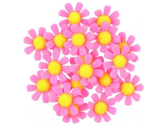 Kytičky filcové samolepicí-růžové