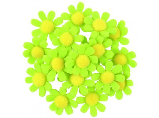 Filcové kytičky samolepicí-zelené