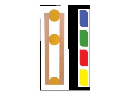 Stojina krátká kolečko-zelené