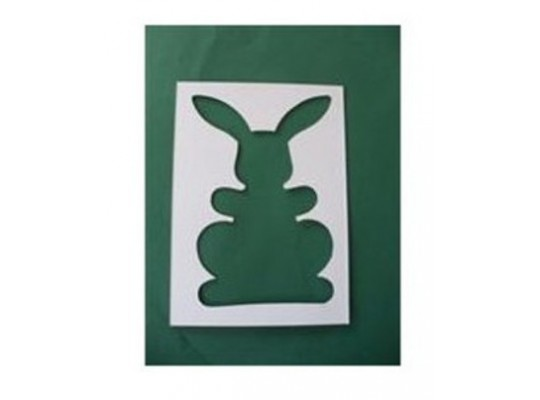 Šablona z lepenky zajíc malý-sada