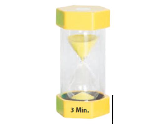 Hodiny přesýpací-žluté-3 minuty