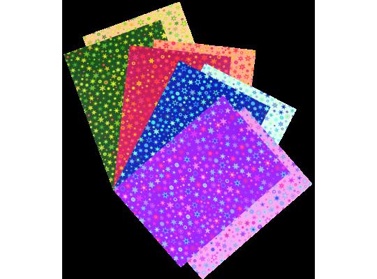 Fotokarton hvězdičky pestré-sada