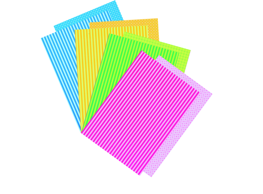 Fotokarton-proužky/puntíky-sada II.