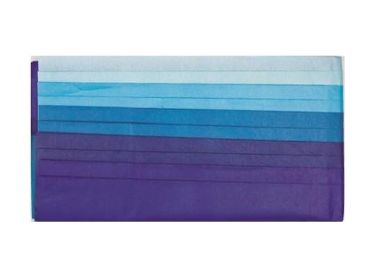 Hedvábní papír tón v tónu-modrý