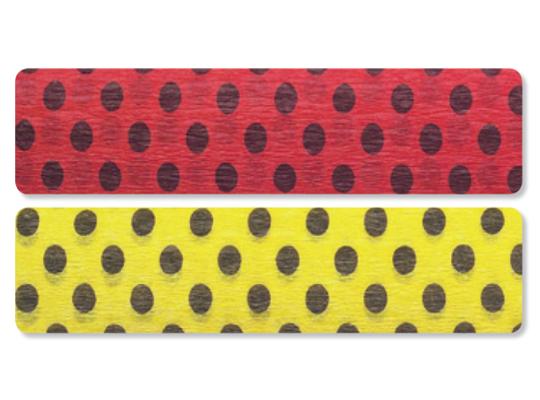 Krepový papír s puntíky-sada