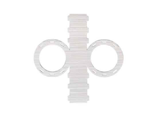 Lampion z lepenky vlnité-kruh-bílý