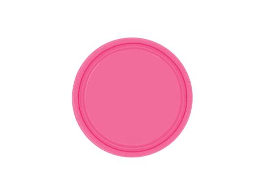 Talířek z papíru barevný-růžový