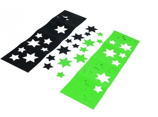 Stínítko z papíru-hvězdy