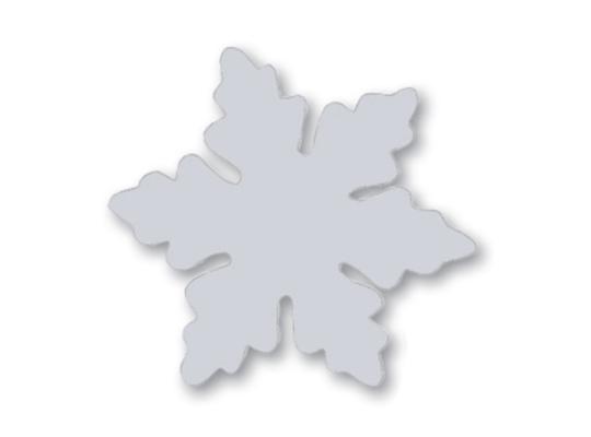 Vločka sněhová z lepenky-bez otvorů